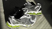 Asics Silver Cross-Training Shoes-Yellow Gel