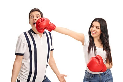 girl punching boy, content marketing, inbound marketing company in Brooklyn, content creation, SEO