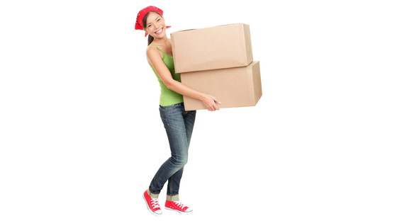 Girl Moving Boxes